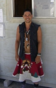 Hey all, I'm Jon and this will be my 10th year at Burning Man. I am really looking forward to another great year serving Fruit Smoothies. This is a pic of me working at the Black Rock City Bus Depot in 2008. See you on the Playa!!!!